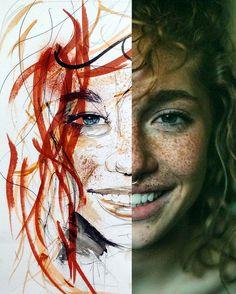 Antoine Stevens Ink, Mirror, Illustration, Artwork, Inspiration, Ideas, Exercises, Dibujo, Art