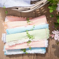 Seersucker napkins
