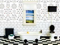 Modern #Wallpaper Trends + 11 Prints to Try (http://blog.hgtv.com/design/2013/06/06/modern-wallpaper-design-ideas-from-icff/?soc=pinterest)