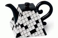 mini crossword teapot