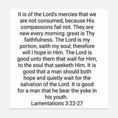 Lamentations 3:22-27