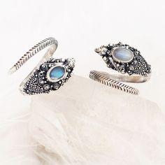 Whisper - Gemstone & Sterling Silver Dragon Wrap Ring