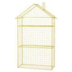 Étagère maison en métal jaune H 84 cm GRAPHIKIDS
