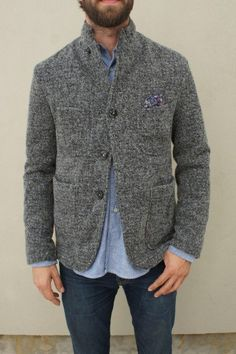 Fancy - Homespun Jersey Lined Jacket by Engineered Garments