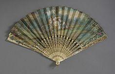Fan ca. 1775 via The Museum of Fine Arts, Boston