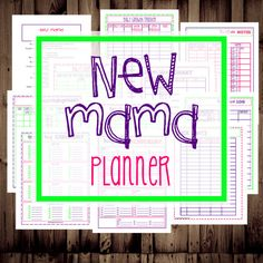 New Mama planner: registry checklist, hospital checklist, feeding chart, diaper change, sleeping, and more