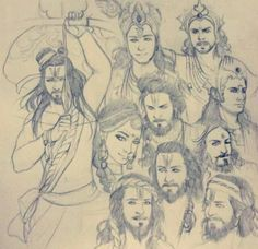 Pencil Drawings Of Flowers, Pencil Art Drawings, Art Sketches, Indian Illustration, Cute Illustration, Krishna Art, Radhe Krishna, Baby Krishna, Ganesha Drawing