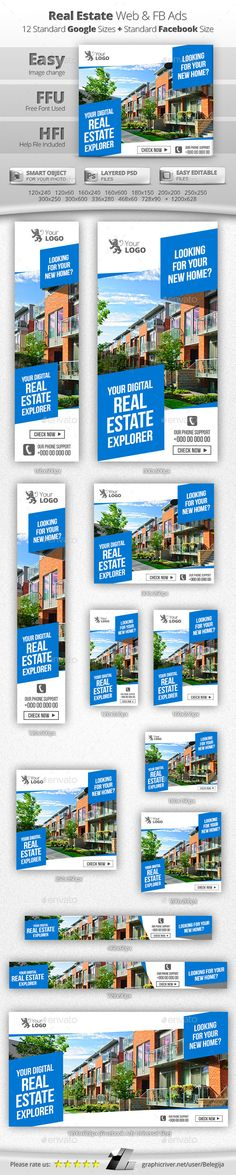 Real Estate Banners | Media web, Banners and Real estate
