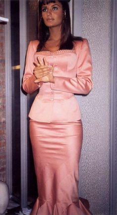 Helena Christensen backstage for Alaia