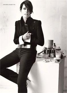 Amanda Harlech by Mario Testino, Vogue Italia, March 2002