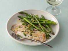 Seared Tilapia with Asparagus and Spicy Mint Gremolata: Gremolata, a mixture of mint, lemon zest and garlic adds bright, fresh flavor to this seared tilapia dish.