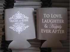 Happily Ever After Wedding Favor Koozies