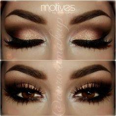 Maquillaje ojos cafés