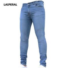 LASPERAL 2018 New Fashion Men s Casual Stretch Skinny Jeans Trousers Tight  Pants Solid Color Jeans Men 5d50cb19258