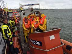 Nog even rescue varen als afsluiting van een bedrijfsuitje op Terschelling