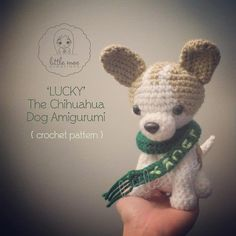 (4) Name: 'Crocheting : 'Lucky', the Chihuahua Dog Amigurumi
