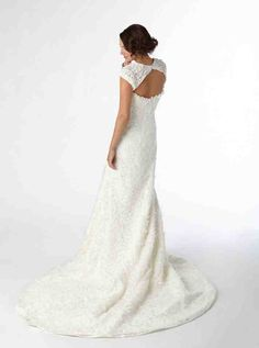 Costco: Lace Fit and Flare Wedding Gown with Keyhole Back Nordstrom Wedding Dresses, Wedding Dresses For Sale, Wedding Gowns, Wedding Day, Fit And Flare Wedding Dress, Getting Married, Costco, Bridal, Lace