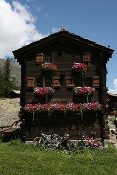 Old chalet . Zermatt Switzerland