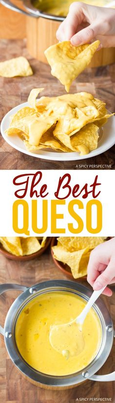 The BEST Queso (Cheese Sauce) Recipe via @spicyperspectiv
