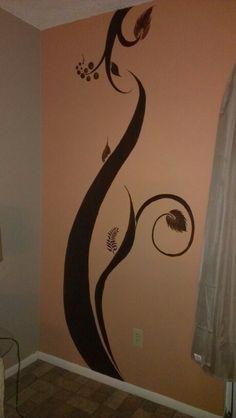 Diseño en la pared de la sala