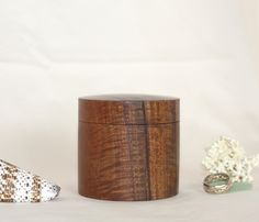 Eco Koa Wood Ring Box  Hand Turned Made in by NaiaWoodDesigns, $99.00