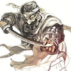 Samurai Drawing, Samurai Artwork, Japanese Cartoon, Japanese Art, For Honor Armor, Character Illustration, Illustration Art, Ninja Art, Ghost Of Tsushima