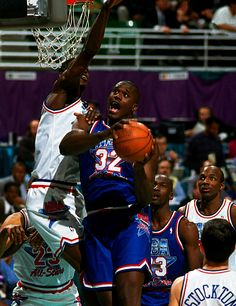 Shaq With The Dream, '93 All Star Game.