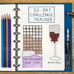 Following this morning's post, I wanted to do an update on my 50 day challenges, and since I had a spare hour, I thought I would draw up a tracker too :-) . Things are going well and I have achieved my goal every day so far (29/50). Interestingly, the no alcohol challenge is much easier (I'm really not missing it at all) than the no junk food challenge - I may have very slightly bent (but definitely not broken) the rules on the latter on 1 or 2 occasions.... . The big question is what I do…