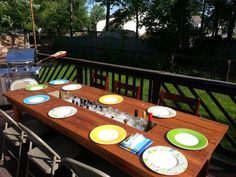 Wood dining patio table with built in cooler by BGWoodworks, $275.00