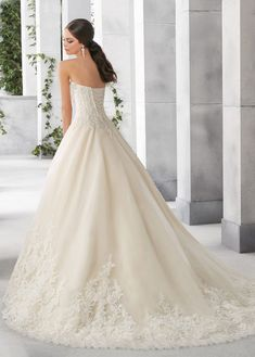 Classic Tulle & Satin Sweetheart Neckline A-Line Wedding Dresses With – FTW Bridal Tulle Lace, Lace Dress, Bridal Gowns, Wedding Gowns, Illusion Neckline Wedding Dress, Outdoor Wedding Dress, Plus Size Wedding, Lace Applique, Bridesmaid Dresses