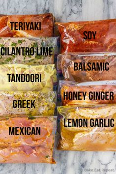 9 pork chop marinades are easy to mix up and add so much flavour to your pork chops. Marinate and then grill, pan fry, or bake, or freeze for later! Chicken Marinade Recipes, Pork Rib Recipes, Chicken Marinades, Pork Ribs Brine Recipe, Good Pork Chop Recipes, Pork Chop Meals, Grilled Pork Chops, Grilled Meat, Brining Pork Chops