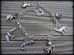 Game of Thrones charm bracelet- thick chain- custom size- SALE. $19.99, via Etsy.