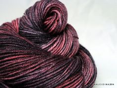 Handpainted yarn  Zerog DK Double Bubble Merino by Alcidina, $22.00
