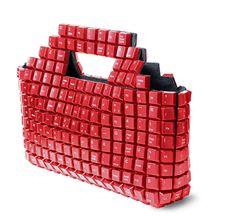 Cool recycled keyboard bag.