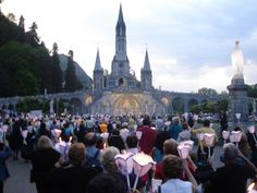 Lourdes, France...This was one of the most moving experiences of my life. Totally awed by the magnitude and power of faith.