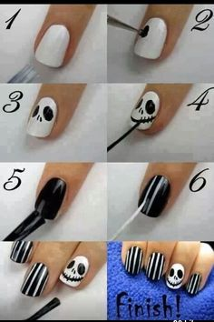 Love these jack skellington nails my aunt did these on me for Halloween and I got soooo many compliments!!
