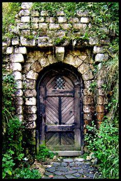 Antigua puerta de castillo de Bran, Rumania