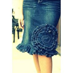 Of the Rose Ruffle Denim Skirt - apostolicclothing-com