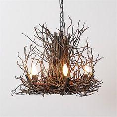 """twig chandelier branchelier appalachian 24"""""""