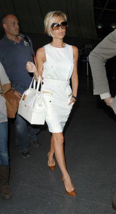 Victoria Beckham's white look, 2007