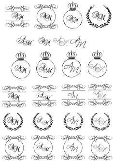 Monogramas #casamento   deborassoares19@gmail.com