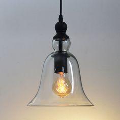 MODERN VINTAGE INDUSTRIAL METAL GLASS CEILING PENDANT LIGHT SHADE AND BULB LT-19