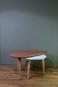 tables basses vintage bl/palissandre px