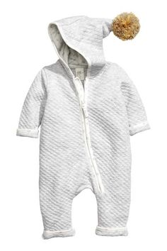 Quilted jersey all-in-one suit | H&M