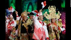 Parade of athletes. Opening ceremony of the Rio Olympics 2016