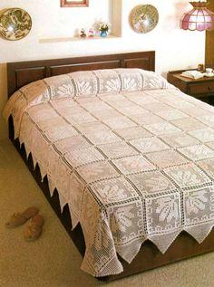 Crochet Bedspread ... PDF Crochet Pattern ... Stunning