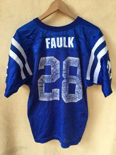 794f38eebe9 Vintage Wilson NFL Indianapolis Colts Marshall Faulk jersey youth large