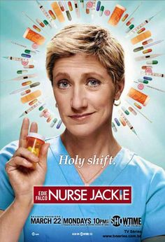 #Nurse Jackie- only watched first episode of first season so far (got first season out from library cause I don't have showtime) but so great so far!