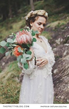 We Love This Romantic Long-Sleeved Lace Gown!   Photography by Svetlana Cozlitina   Wedding Dress by Marianna Lanzilli   Flowers & Decor by Wedding VS Design    Hair & Make Up by Maria Romanez