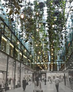 #pelasruaslcarq e nós achamos na Alemanha esse maravilhoso jardim suspenso no meio de um shopping  ! Olha como a iluminação agrega valor a essa paisagem no meio do cinza urbano... perfeito!  Ficou inspirado e quer montar seu jardim também? Que tal aqueles que é só encaixar ou um que cabe até nos menores espaços? No blog tem 10 maneiras de conseguir isso! Acessa la LINK NA BIO…